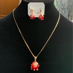 Jewelry - 💥Just Reduced💥Italian Gold Elephant Necklace set